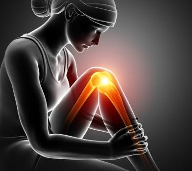 Women Knee joint pain